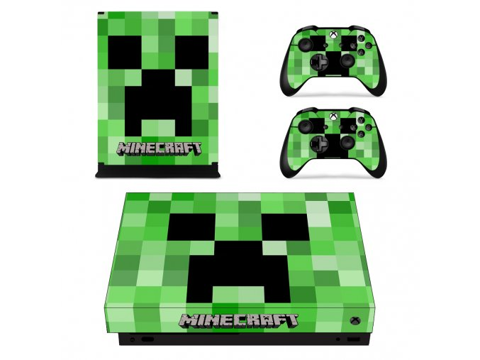 Xbox One X Polep Skin Minecraft