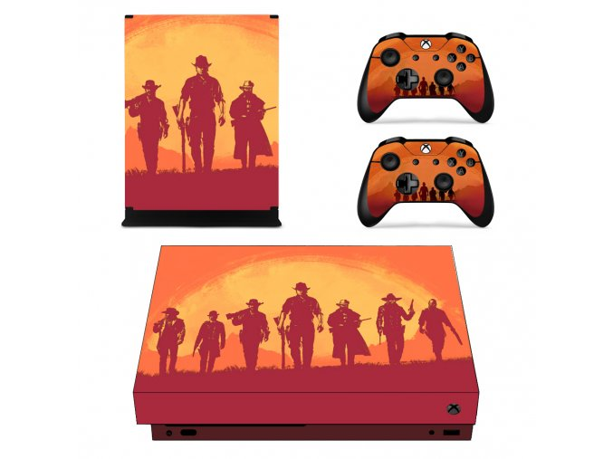 Xbox One X Polep Skin Red Dead Redemption 2