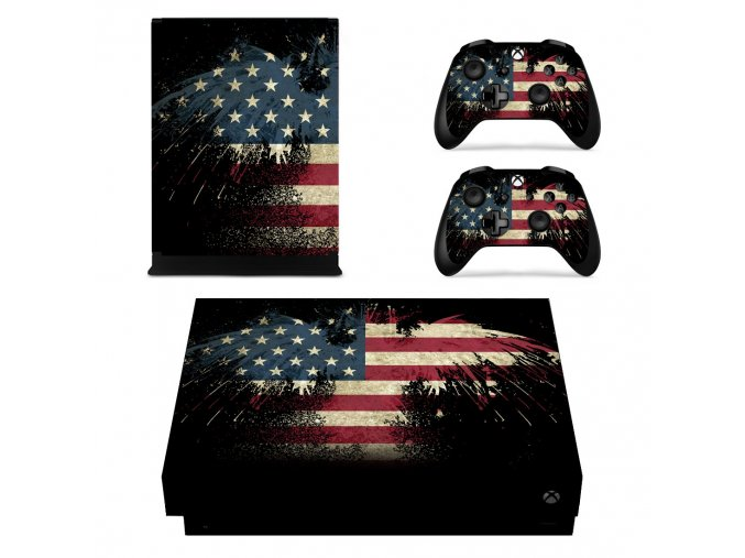 Xbox One X Polep Skin USA