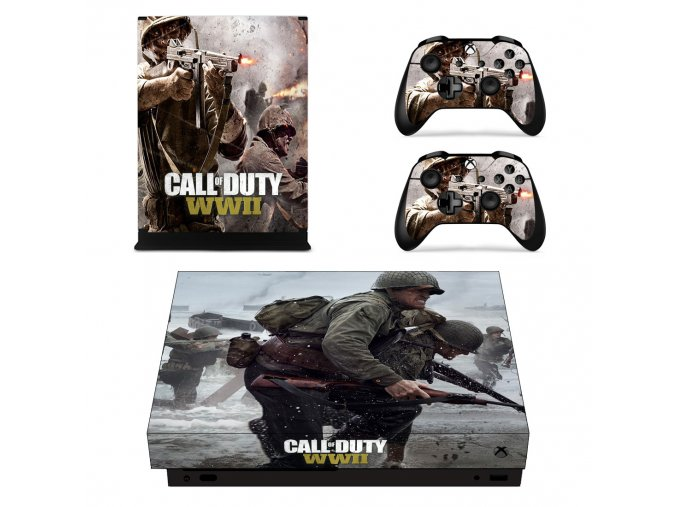 Xbox One X Polep Skin Call of Duty WWII