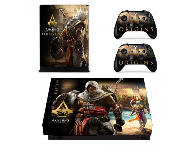 Xbox One X Polep Skin Assassins Creed Origins