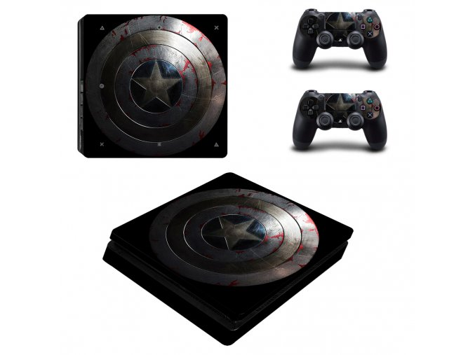 PS4 Slim Polep Skin Captain America
