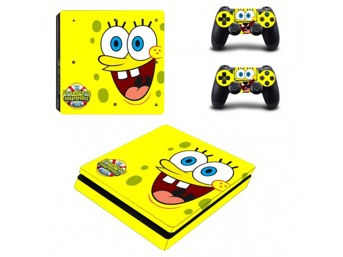 PS4 Slim Polep Skin Spongebob