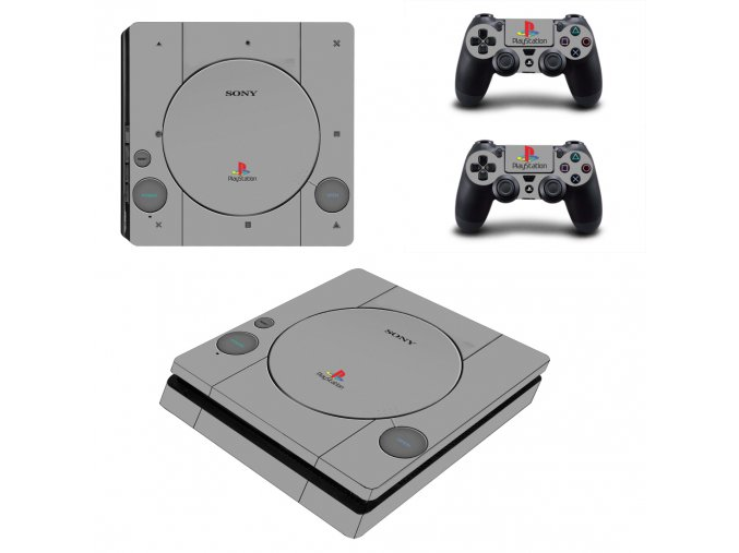 PS4 Slim Polep Skin Retro