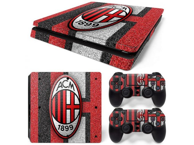 PS4 Slim Polep Skin AC Milan