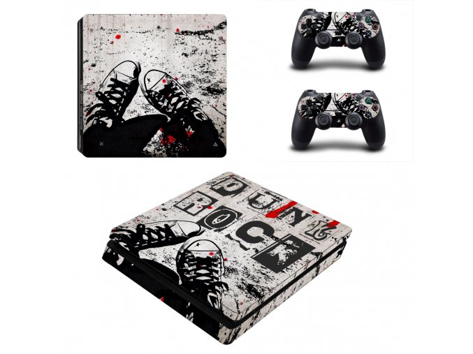 PS4 Slim Polep Skin Punk Rock