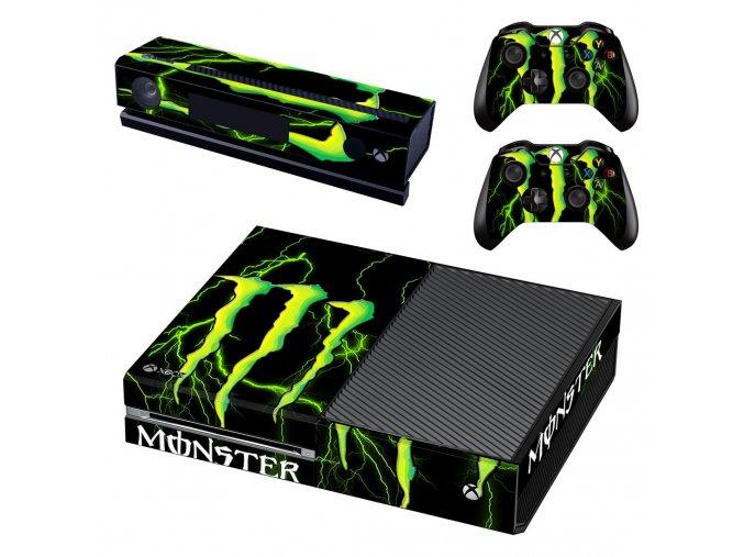 Xbox One Polep Skin Monster Energy