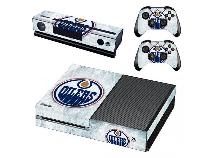 Xbox One Polep Skin NHL - Edmonton Oilers