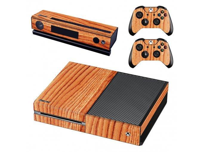 Xbox One Polep Skin Dřevo