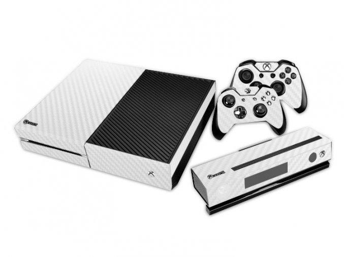 Xbox One Polep Skin White Cotton