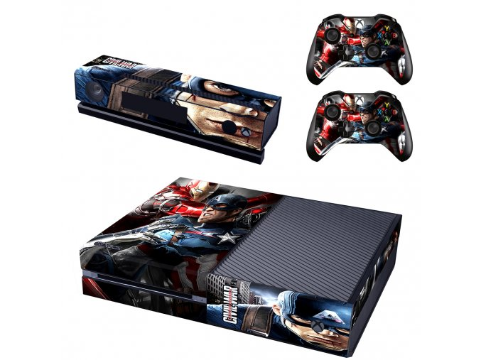 Xbox One Polep Skin Avengers Civil War