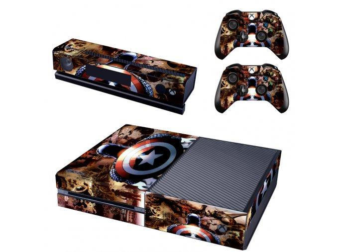 Xbox One Polep Skin Captain America