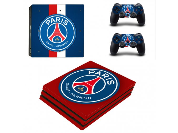 PS4 Pro Polep Skin Paris St. Germain FC