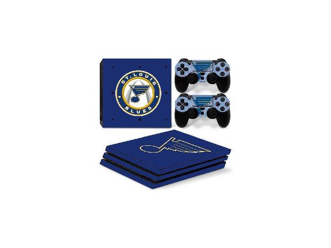 PS4 Pro Polep Skin NHL - St. Louis Blues