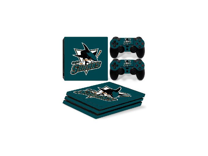 PS4 Pro Polep Skin NHL - San Jose Sharks