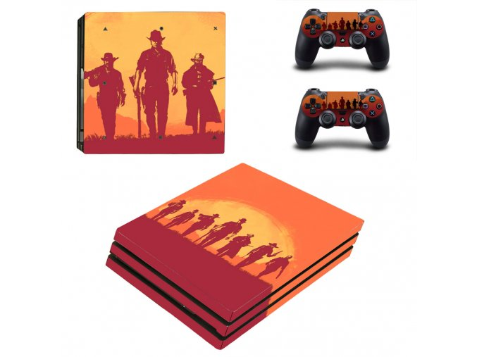 PS4 Pro Polep Skin Red Dead Redemption 2