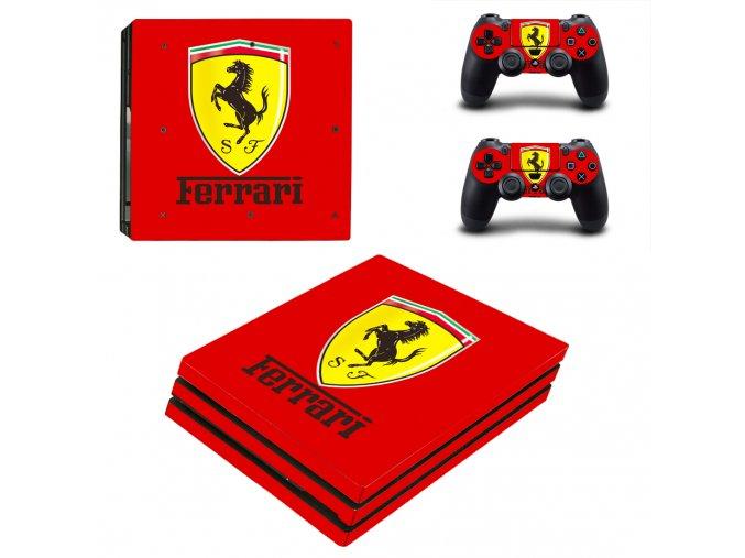 PS4 Pro Polep Skin Ferrari