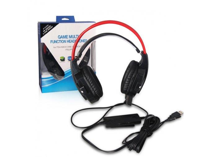 Multifunkční herní headset- PC, PS4, PS3, Xbox One, Xbox 360