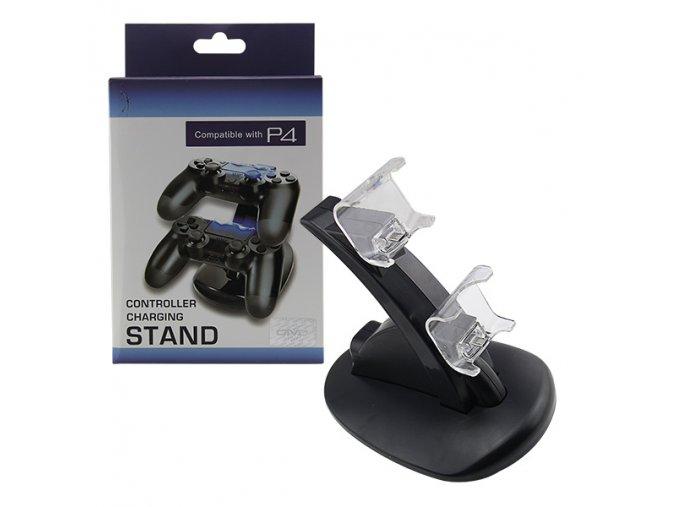 PS4 Duální LED nabíjecí stanice