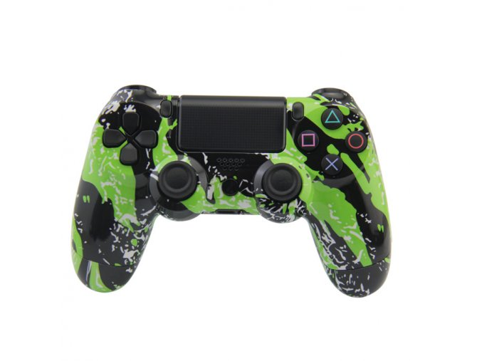 PS4 Bezdrátový ovladač - green grafitti