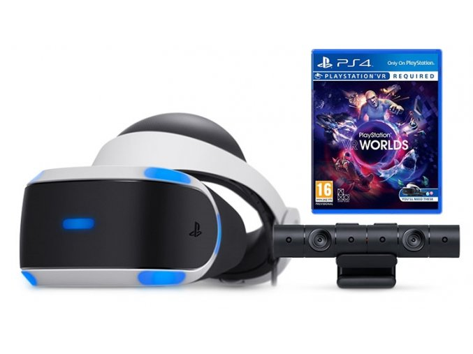 Sony Playstation VR + PS4 Camera V2 + VR Worlds