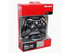 Microsoft Xbox 360 bezdrátový ovladač černý + Adaptér pro windows