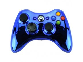 Microsoft Xbox 360 Wireless Controller Blue Chrome