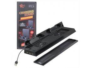 Vertikální nabíjecí USB stojan s chlazením PS4