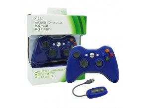 Xbox 360 ovladač bezdrátový + PC wireless gaming receiver modrý