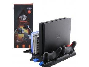 Vertikální nabíjecí stojan s chlazením PS4 / PS4 Slim / PS4 Pro