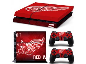 PS4 Polep Skin Detriot Red Wings