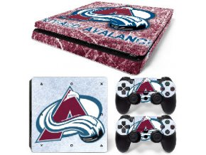 PS4 Slim Polep Skin Colorado Avalanche