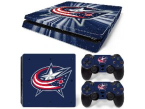 PS4 Slim Polep Skin Columbus Blue Jackets