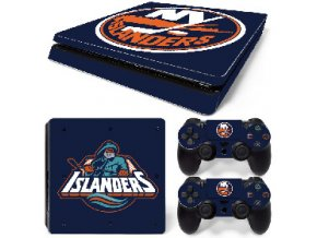 PS4 Slim Polep Skin New York Islanders