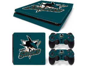 PS4 Slim Polep Skin San Jose Sharks