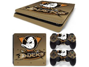 PS4 Slim Polep Skin Anaheim Ducks
