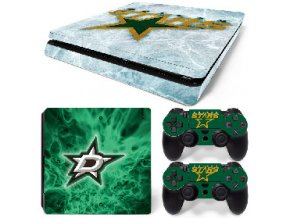PS4 Slim Polep Skin Dallas Stars