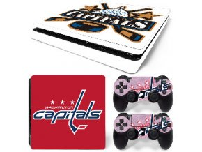 PS4 Slim Polep Skin Washington Capitals