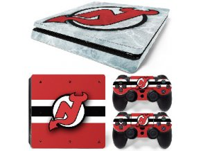 PS4 Slim Polep Skin New Jersey Devils