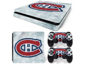 PS4 Slim Polep Skin Montreal Canadiens