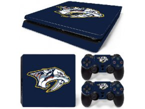 PS4 Slim Polep Skin Nashville Predators
