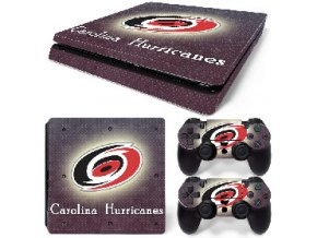 PS4 Slim Polep Skin Carolina Hurricanes