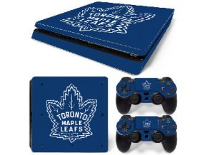 PS4 Slim Polep Skin Toronto Maple Leafs