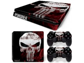 PS4 Slim Polep Skin The Punisher