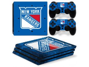 PS4 Pro Polep Skin NHL - New York Rangers
