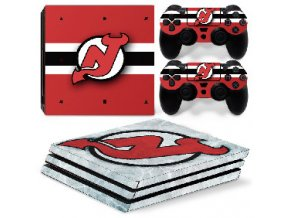 PS4 Pro Polep Skin NHL - New Jersey Devils