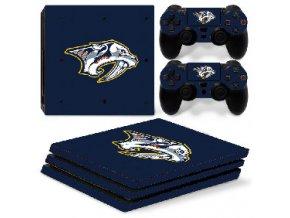 PS4 Pro Polep Skin NHL - Nashville Predators