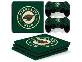 PS4 Pro Polep Skin NHL - Minnesota Wild