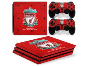 PS4 Pro Polep Skin Liverpool FC