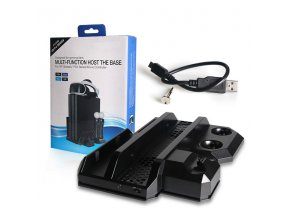 Multifunkční nabíjecí stojan s chlazením PS4 /Slim / Pro / VR